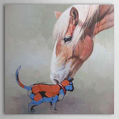 Hand Painted Oil Painting Animal Mother Love 02