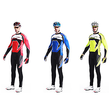 MYSENLAN Long Sleeve Men's Bike/Cycling Clothing Suits (Multiple Colors)
