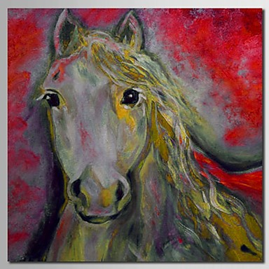 Hand Painted Oil Painting Horse with Stretched Frame