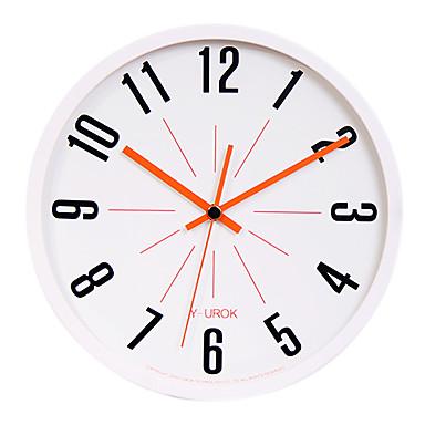 "11.8"" White Frame Black Figure Mute Wall Clock"