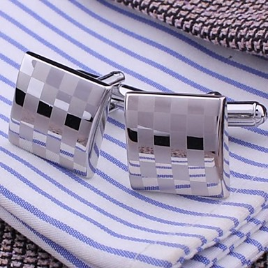 XINCLUBNA® Men's Fashion Silver Copper Cufflink (1.5cm,Silver)(1pair)