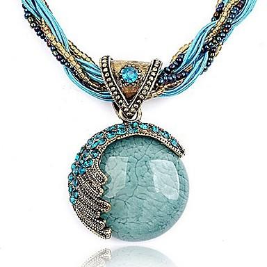 Necklace Pendant Bohemia Style Ethnic Beach Austrian Rhinestone Peacock Crystal Fashion Vintage Jewelry Birthday Gifts