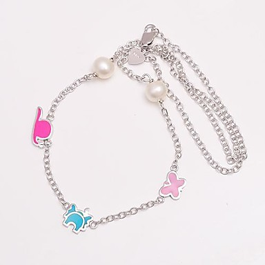 AS 925 Silver Jewelry Color animal with pearl necklace