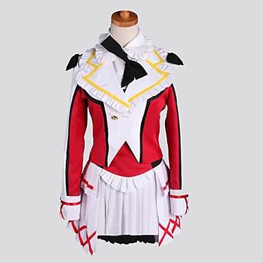 Buy Inspired Love Live Nozomi Tōjō Anime Cosplay Costumes Suits Patchwork Red Long Sleeve Coat / Vest Shirt Skirt Socks