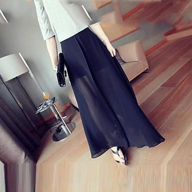360ef259f2853 Haute Qualité élégante noire de Split en mousseline de soie longue jupe de  YiFanYiGui ™ femmes