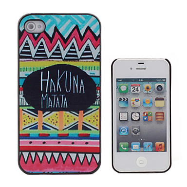Buy HAKUNA MATATA Coloured Drawing Pattern Black Frame PC Hard Case iPhone 4/4S