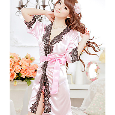 Kamoer Women's Europe silk lingerie suit (nightgown + T pants) 116