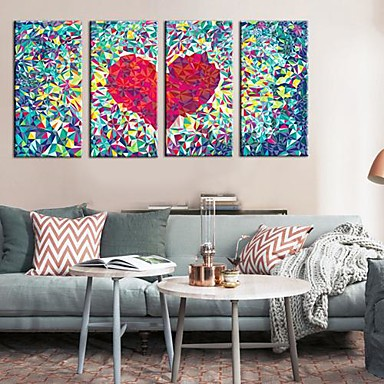 Buy Stretched Canvas Art Abstract Love Set 4