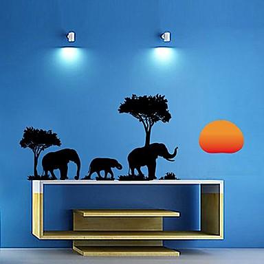 Createforlife elefantes en el bosque para ni os etiqueta - Paredes pintadas para ninos ...