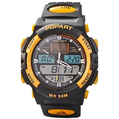 children multifunction dual time zones led sports wrist