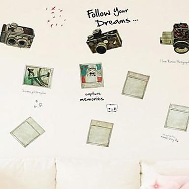 Createforlife ® Cartoon Segui il tuo sogno dei bambini Camera dei bambini Wall Sticker Wall Art ...