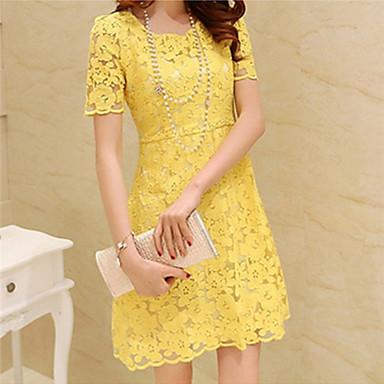Vestido de renda amarela