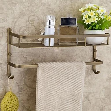Buy Bathroom Shelf Antique Brass Wall Mounted 40*15*17cm(15.7*6*6.7inch)