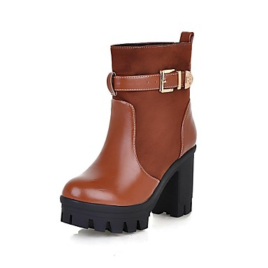 s shoes motorcycle boots high chunky heel suede