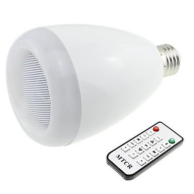 Buy Bluetooth 3.0 Speaker E27 Base RGB 9W LED Bulb Music Lamp Remote Controller (AC 90V~240V)