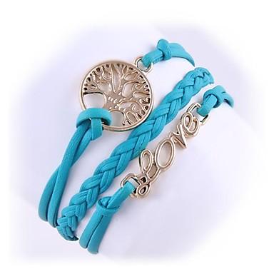 (1 Pc)Fashion 5.1cm Women's Fashion Love Alloy Chain & Link Bracelet