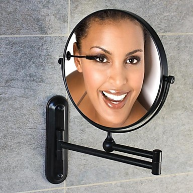 Buy Oil-rubbed Bronze Finish 180-degree Rotating Circle Wall Mount 360-degree Cosmetic Mirror