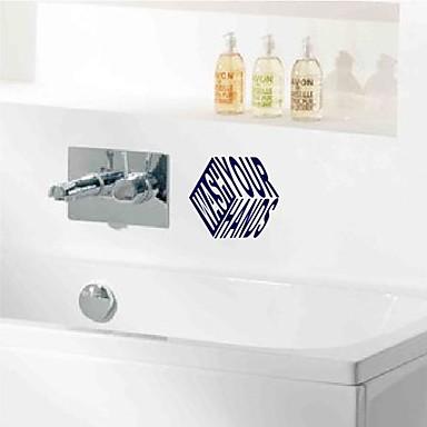 wandaufkleber wandtattoos moderne waschmarken pvc. Black Bedroom Furniture Sets. Home Design Ideas