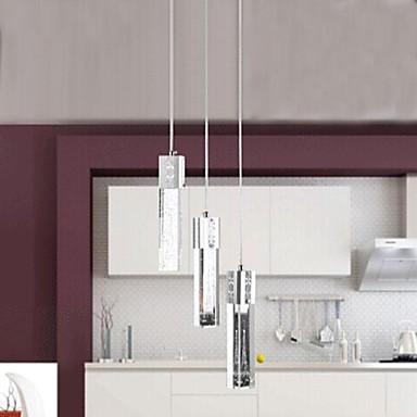 3 luces de color blanco conducido cristal moderna l mpara - Ver lamparas de techo modernas ...