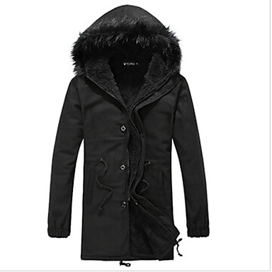 Dibai Men's Fashion Fur Neck Coat
