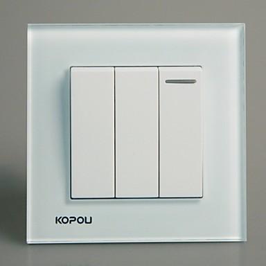 kopou interrupteur du panneau de verre de cristal de style moderne de 2212904 2016. Black Bedroom Furniture Sets. Home Design Ideas