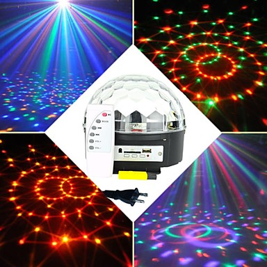 Buy 6X3W RGB LED MP3 DJ Club Pub Disco Party Crystal Magic Ball Stage Laser Light(AC100-240V)