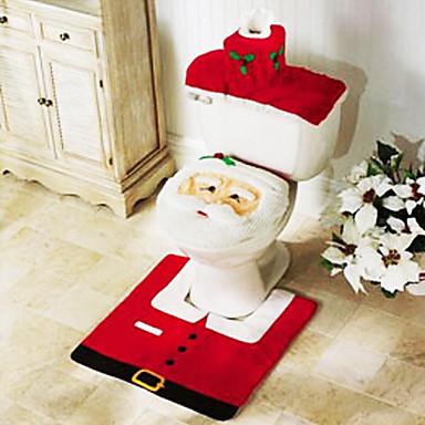 3 piezas de accesorios de ba o de navidad asiento del - Alfombras de bano ...