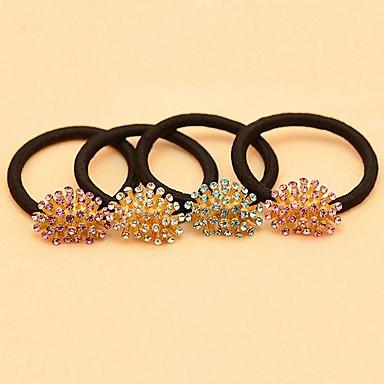 1pcs Sweet Style Zircon Flower Hair Ties(Assorted Colors)