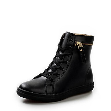 s shoes combat boots flat heel leather boots with