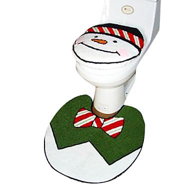 no l bonhomme de neige accessoire de salle de jeu si ge de toilette 1pc tapis de bain 1pc de. Black Bedroom Furniture Sets. Home Design Ideas