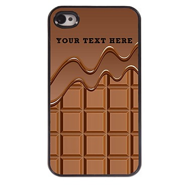 Buy Personalized Phone Case - Chocolate Design Metal iPhone 4/4S