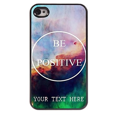Buy Personalized Phone Case - Positive Design Metal iPhone 4/4S