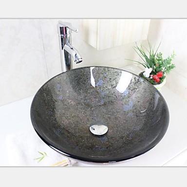 tour sombre bassin tremp vier r cipient en verre avec ensemble empereur du robinet de 2251826. Black Bedroom Furniture Sets. Home Design Ideas