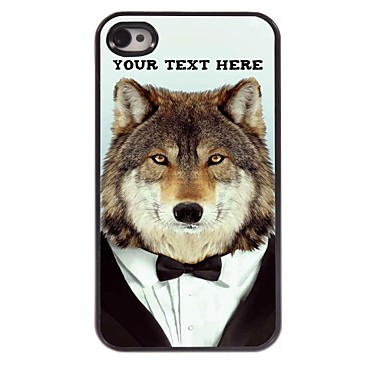 Buy Personalized Phone Case - Wolf Design Metal iPhone 4/4S