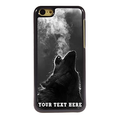 Buy Personalized Phone Case - Wolf Blowing Smoke Design Metal iPhone 5C