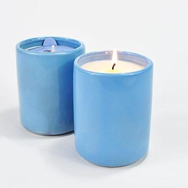 Blå stearinlys