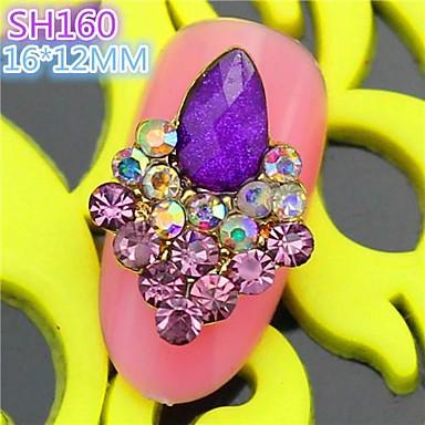10st sh160 speciale ontwerp luxe strass 3d legering nail art diy nagel schoonheid nagel - Decoratie murale ontwerp salon ...