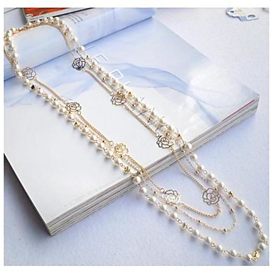 Champagne Rose Pearl Necklace #41-1
