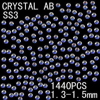 Buy 1441.3-1.5mm AB Color Glitter Flatback Crystal Rhinestone Nail Art Decoration
