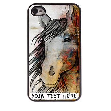 Buy Personalized Phone Case - Horse Design Metal iPhone 4/4S