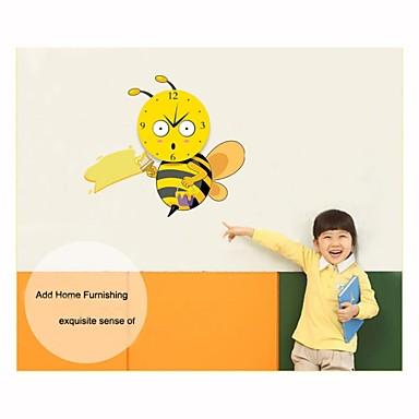 bande dessin e mignonne petite abeille bricolage horloge. Black Bedroom Furniture Sets. Home Design Ideas