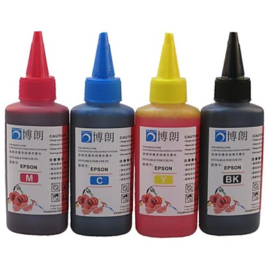 BLOOM® Dye Ink Suitable For Epson CISS Refill For Epson Ink Cartridge 100ML (4 color 1 lot)
