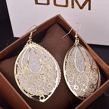 Drop Earrings Statement Jewelry Alloy Drop Gold Silver Jewelry For Party Special Occasion Birthday Daily 2pcs