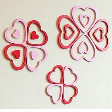 Adesivi murali 3d stickers murali a forma di cuore design for Foto murali 3d