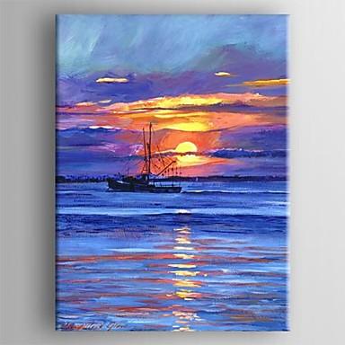 Peint la main paysages abstraits un panneau toile - Cuadros con colores calidos ...