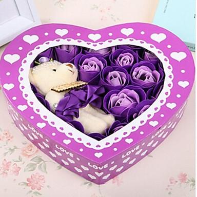 Regalo di giorno 20pcs romantiche rose amore sapone fiori - Colore del giorno di san valentino ...