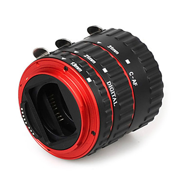 Buy Colorful Metal Electronic TTL Auto Focus AF Macro Extension Tube Ring Canon EOS EF EF-S 60D 7D 5D II 550D