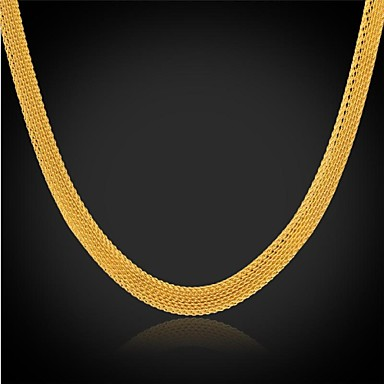 Buy U7® Chunky Chain Necklace 18K Real Gold Plated Stainless Steel Choker Fashion Jewelry