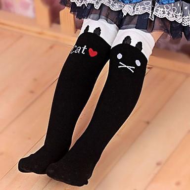 Girl's Winter/Spring/Fall Cartoon Cat Stretchy Medium Leggings (Cotton/Polyester)