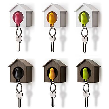 Bird Nest Sparrow House Key Chain Ring Chain Plastic